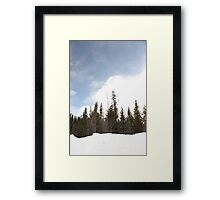 Blue Sky On The Mountain Framed Print