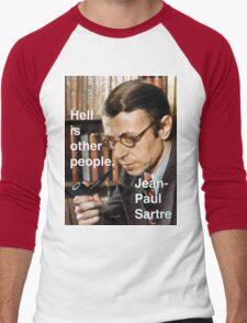 Hell is Other People - Sartre Men's Baseball ¾ T-Shirt