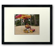 Life saver on guard Framed Print