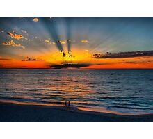 The Sun Burst Through the Clouds Photographic Print