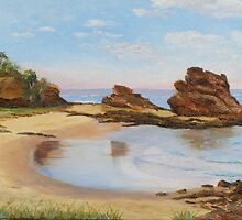 'LET'S GO FOR A SWIM!'  Oil painting. Nambucca Heads, N.S.W.Australia. by Rita Blom