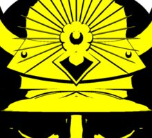 Kabuto graphic in yellow and black Sticker
