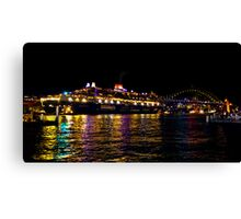 Queen Mary 2 getting ready to leave ! Canvas Print