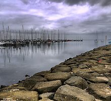 Reflections on a Breakwater. by Larry Lingard-Davis