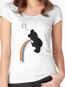 TEDDY RAINBOW VOMIT Women's Fitted Scoop T-Shirt