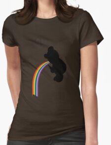 TEDDY RAINBOW VOMIT Womens Fitted T-Shirt