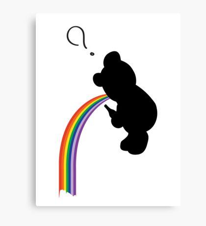 TEDDY RAINBOW VOMIT Canvas Print