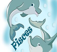 Pisces I Phone case rubber Dolphin (755  Views) by aldona