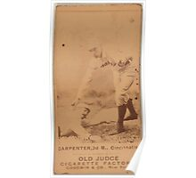 Benjamin K Edwards Collection Hick Carpenter Cincinnati Red Stockings baseball card portrait Poster