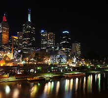 Melbourne by night - Federation Square by fergs55