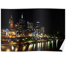 Melbourne by night - Federation Square Poster