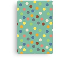 Hippy polka dots Canvas Print