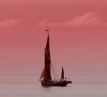 Red Sails at Bradwell on Sea Essex UK by Pauline Tims