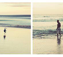 Coastal Moments Triptych by Trish Woodford