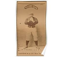 Benjamin K Edwards Collection Jim O'Rourke New York Giants baseball card portrait 002 Poster