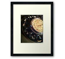 Dial up Framed Print
