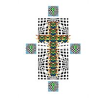 Abstract Cross Wht Photographic Print