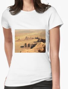 Over the Totem Pole & other Monuments Womens Fitted T-Shirt