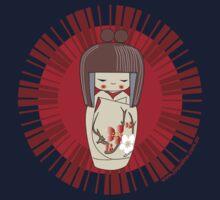 Kokeshi - Red Baby Tee