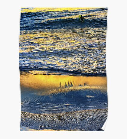 Shimmering Magically into the Evening Sun Poster
