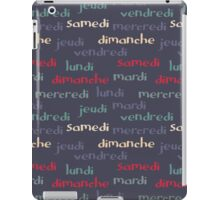 French days of the week iPad Case/Skin