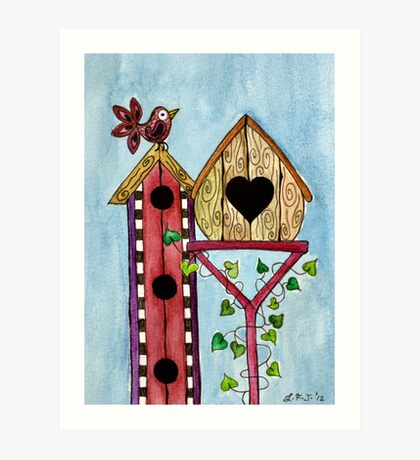 Bird House ~ Sweet Spring Memories. Art Print