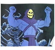 Skeletor front double bicep pose! Poster