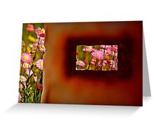 Rust and Wild Flowers Greeting Card