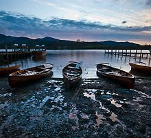 Boats on Derwent Shore by mattcattell
