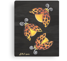 Three Ladybugs ~ bringing you luck and happiness Canvas Print