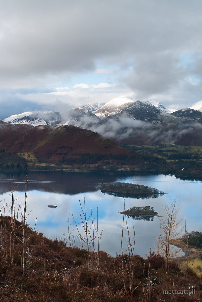 Winter over Causy Pike from Walla Crag by mattcattell
