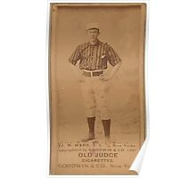 Benjamin K Edwards Collection J M Ward New York Giants baseball card portrait Poster
