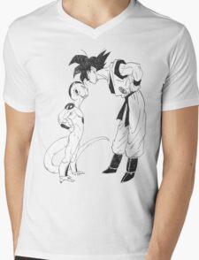 Goku & Frieza scratch Mens V-Neck T-Shirt