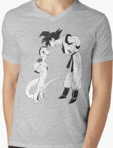 Goku & Frieza scratch Mens V-Neck T-Shirt