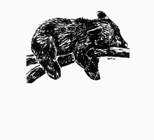 Sleepy Black Bear Woodland Animal Ink Drawing Illustration Nursery Children's Art Unisex T-Shirt