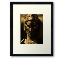 gothic head Framed Print