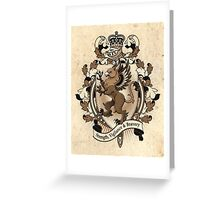 Gryphon Coat Of Arms Heraldry Greeting Card