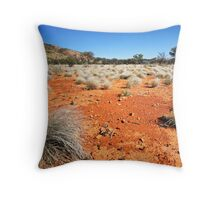 The Red Earth Out Back Throw Pillow