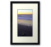 Seascape at Sunset Framed Print