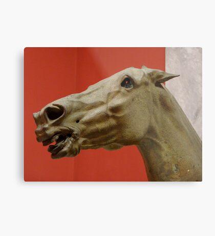 Ancient Greek Horse Head Metal Print