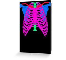 Technicolour Ribs Greeting Card