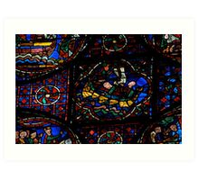 Chartres stained glass Art Print