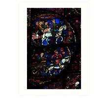Chartres glass Art Print