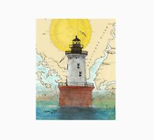 Hooper Island Lighthouse MD Map Cathy Peek Art Unisex T-Shirt