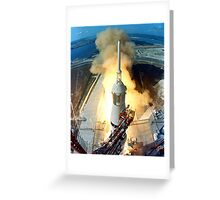 Saturn V Launch of Apollo 11 Moon Mission Greeting Card