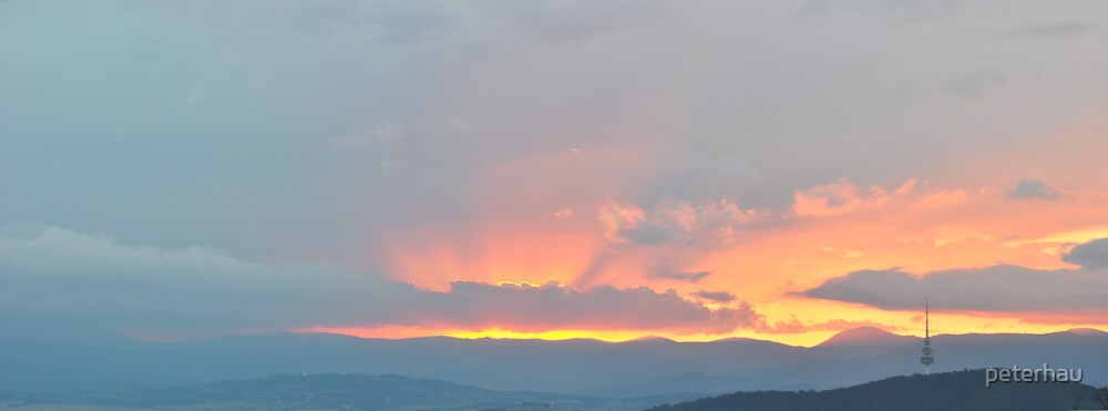 Black Mountain Sunset number 2 by peterhau