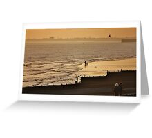 Low Tide Sunset - Hove #1 Greeting Card