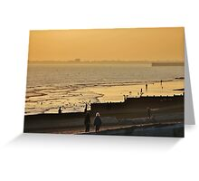 Low Tide Sunset - Hove #2 Greeting Card