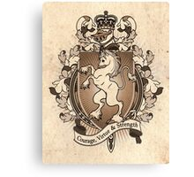 Unicorn Coat Of Arms Heraldry Canvas Print