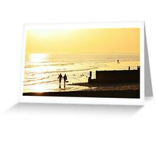 Low Tide Sunset - Hove #3 Greeting Card